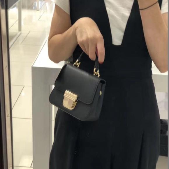 e891197d053572 Michael Kors Bags | Black Mini Leather Crossbody Bag | Poshmark